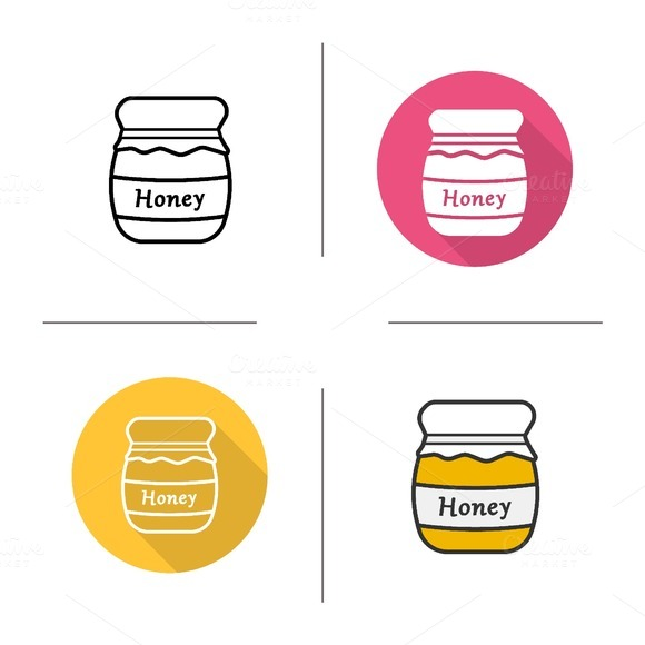 Honey jar icons. Vector - Icons