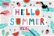 Hello Summer bundle VOL3-Graphicriver中文最全的素材分享平台