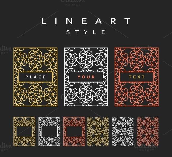 Frame for the design. Line art - Product Mockups