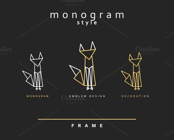 Design elements. Line art cats - Objects