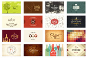 16 Restaurant Business Card-Graphicriver中文最全的素材分享平台