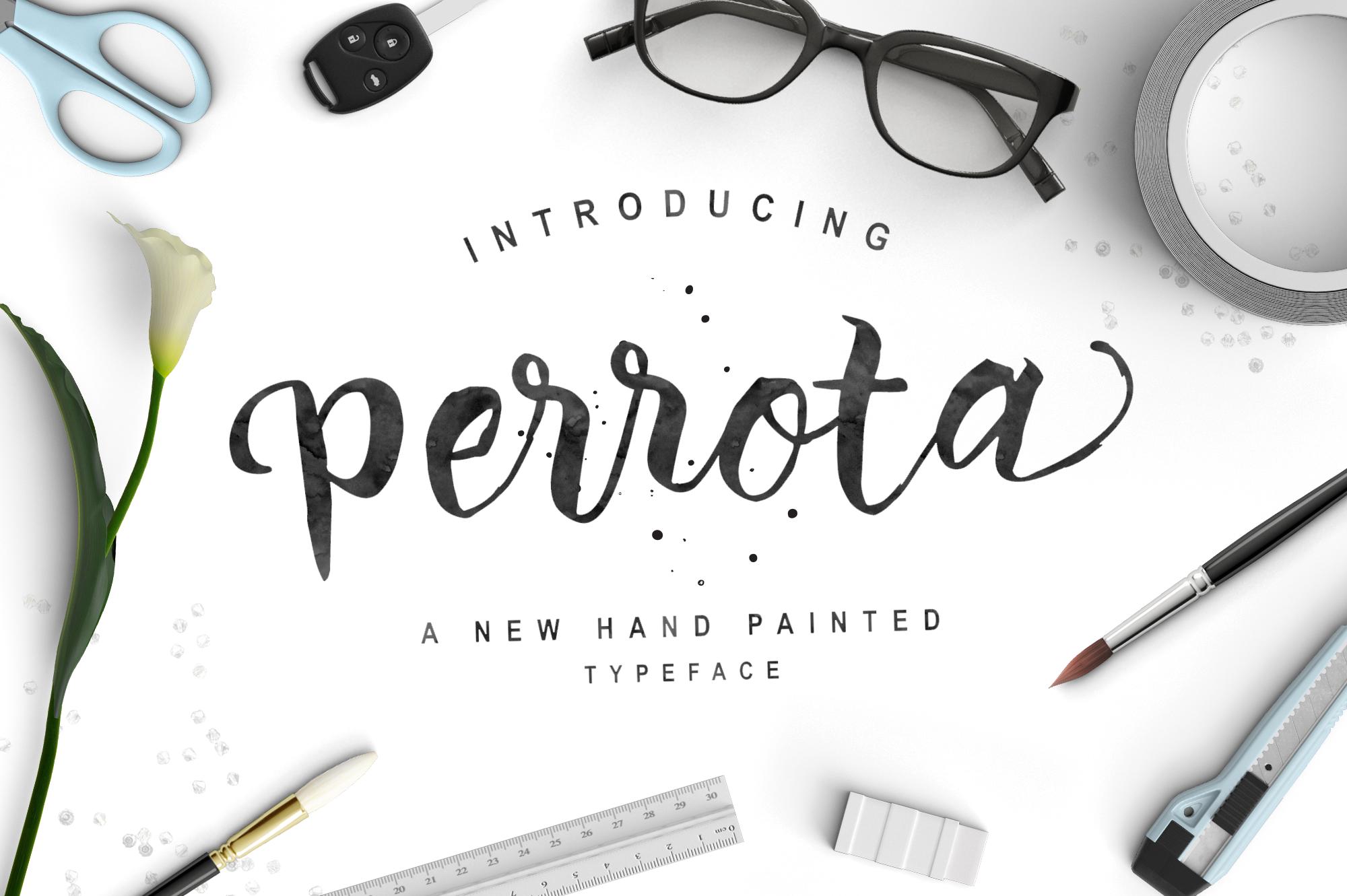 Perrota Typeface  - Script - 1