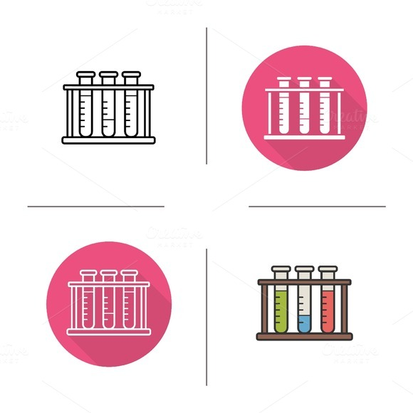 Test tubes rack icons. Vector - Icons