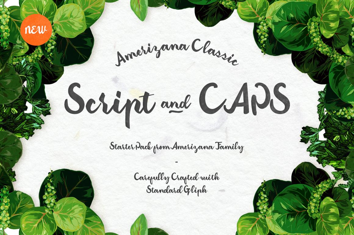 Classic Amerizana Typeface - Script - 2