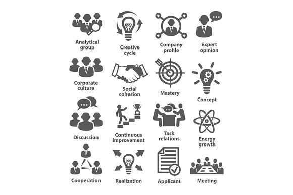 Business management icons. Pack 14. - Icons