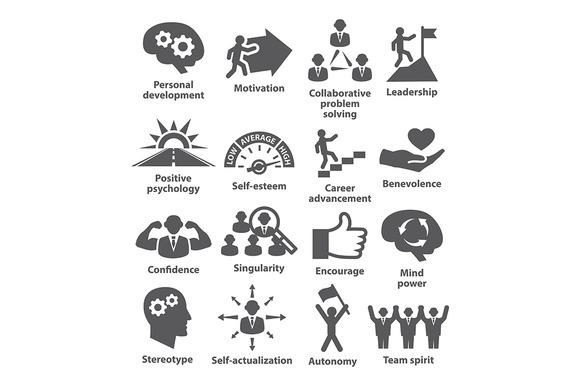 Business management icons. Pack 16. - Icons