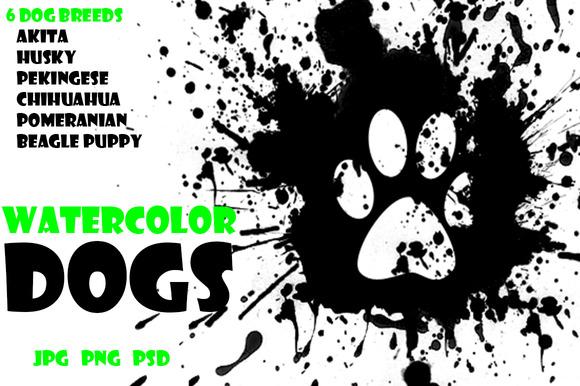 Watercolor Animals Set - DOGS Vol. 2 - Illustrations