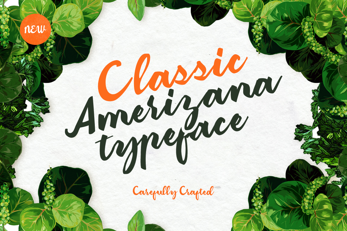 Classic Amerizana Typeface - Script - 1