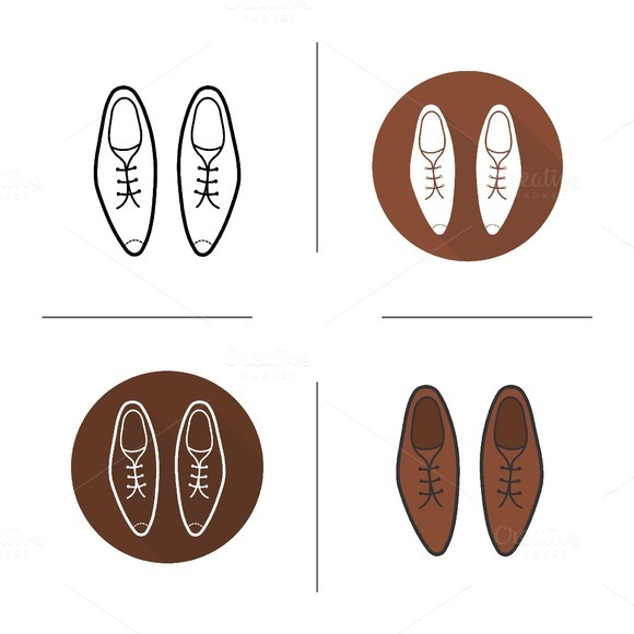 Men's shoes icons. Vector - Icons