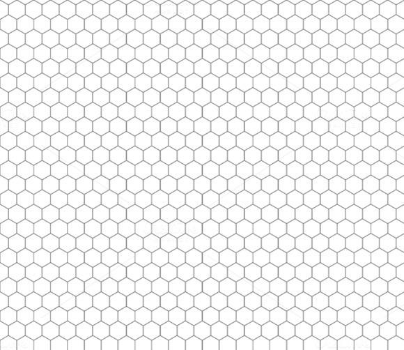 gray hexagon grid on white