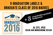Graduation labels & backgro-Graphicriver中文最全的素材分享平台