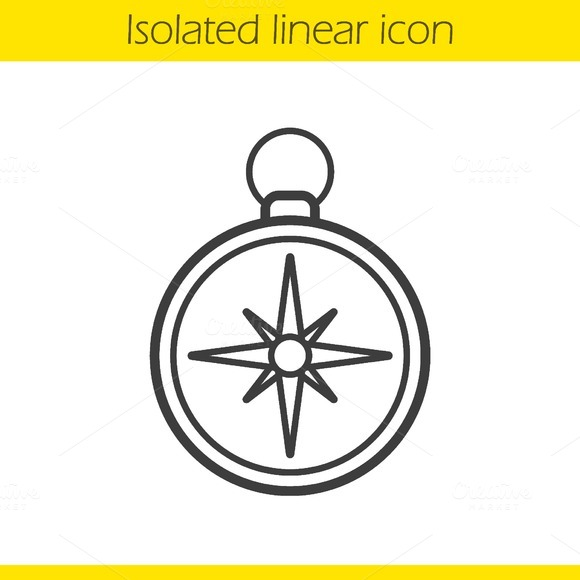 Compass icon. Vector - Icons