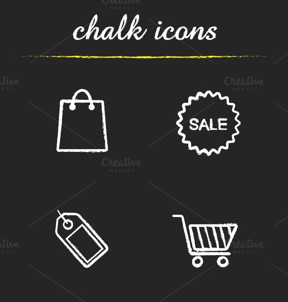 Shopping icons. Vector - Icons