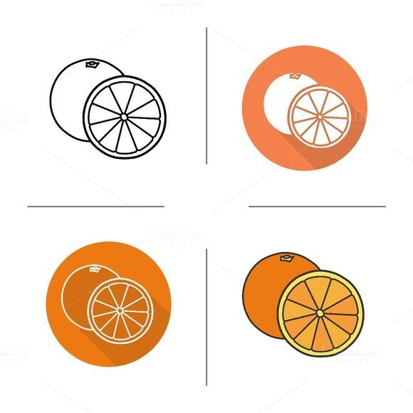 Orange icons. Vector - Icons