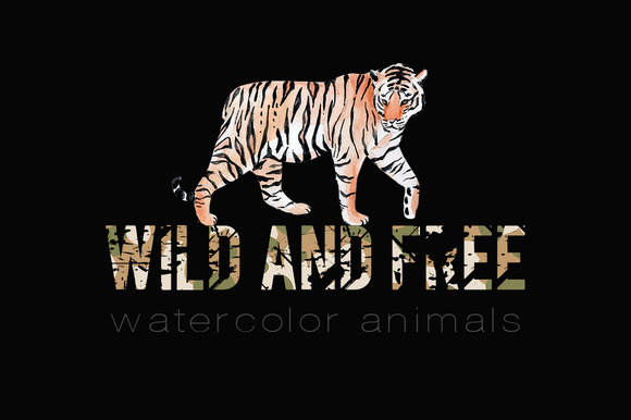 Wild and free. Watercolor animals - Illustrations