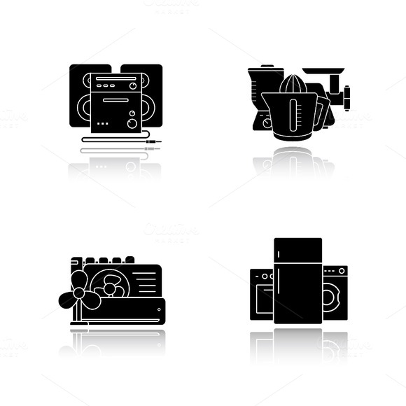 Household appliances icons. Vector - Icons
