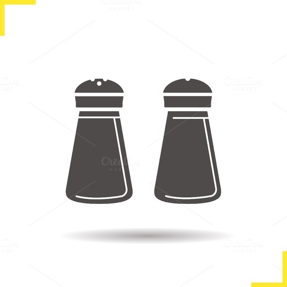 Salt and pepper shakers icon. Vector - Icons