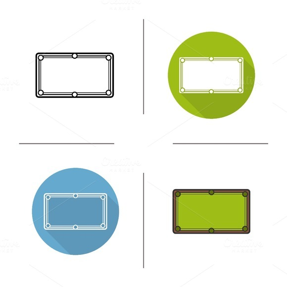 Billiard table icons. Vector - Icons