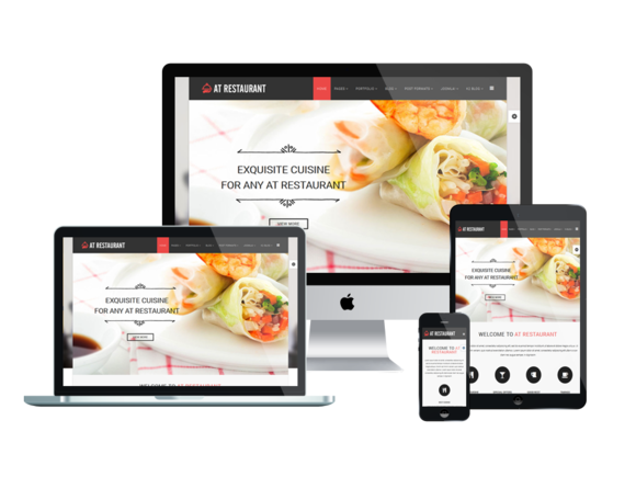 AT Restaurant Onepage Joomla