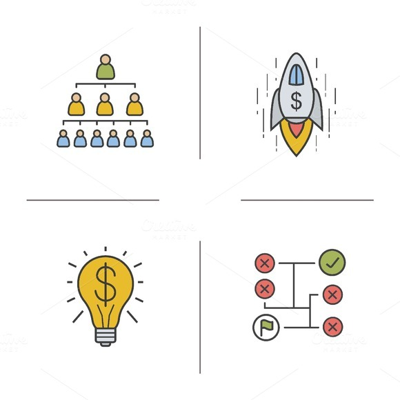 Business concept icons. Vector - Icons