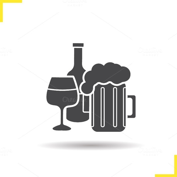 Alcohol icon. Vector - Icons