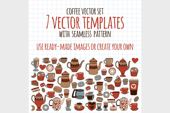 Vector Seamless Pattern And Template