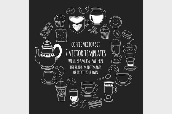 7 Vector Templates Coffee
