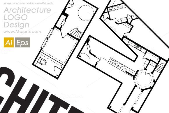Architecture A Logo Template ~ Logo Templates on Creative