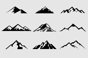 Mountain Shapes For Logos Vol 1