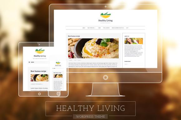 Healthy Living-Fresh Blogging Theme - WordPress - 1