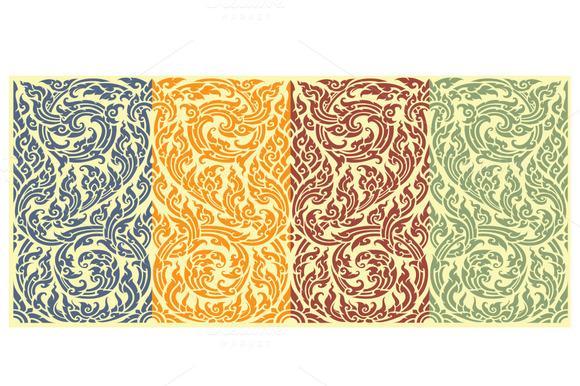 Horizontal Seamless Pattern In Orien