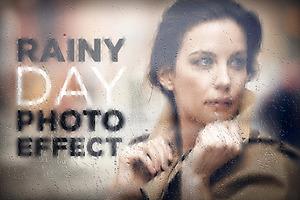 Rainy Day Photo Effect