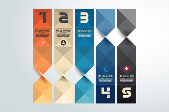 Modern Geometric Graph Design Presentation Templates On