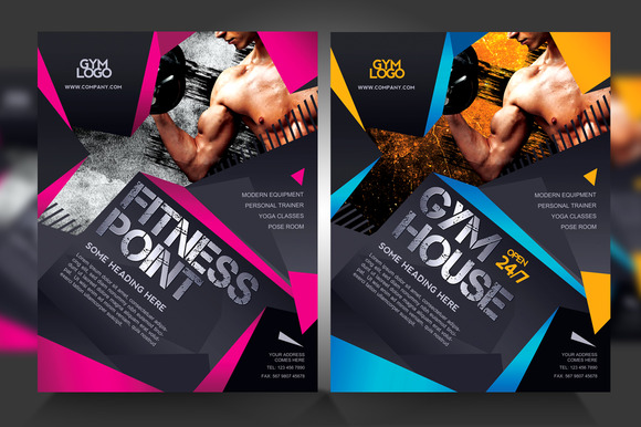 fitness brochure template - fitness gym flyer v1 flyer templates on creative market