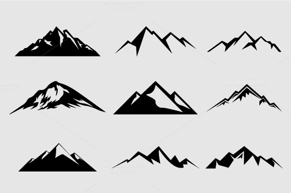 Mountain Shapes For Logos Vol 2 Shapes On Creative Market