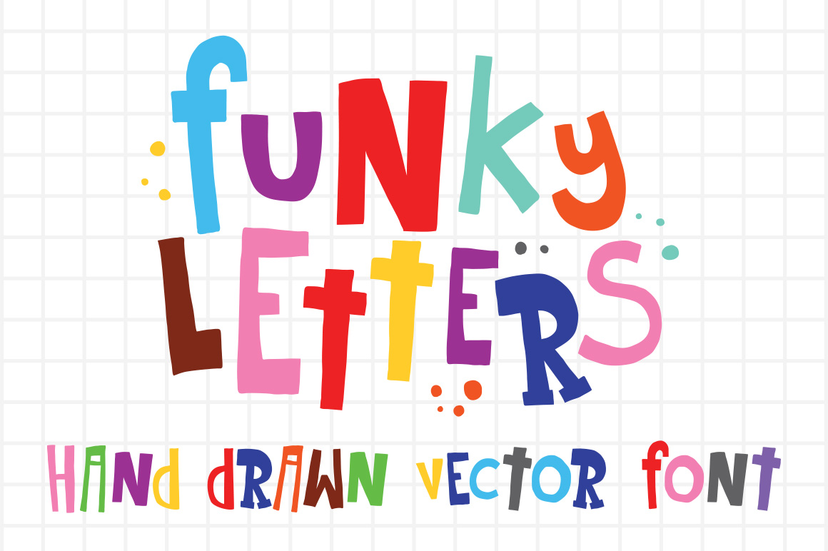 Funky Letters And Numbers Vector Set Objects On Creative