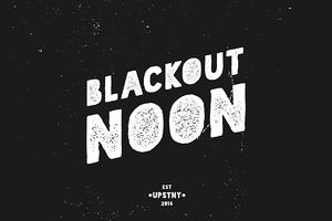 Blackout Noon - Vintage Stencil