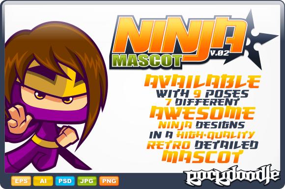 Ninja Mascot V.02 - Illustrations