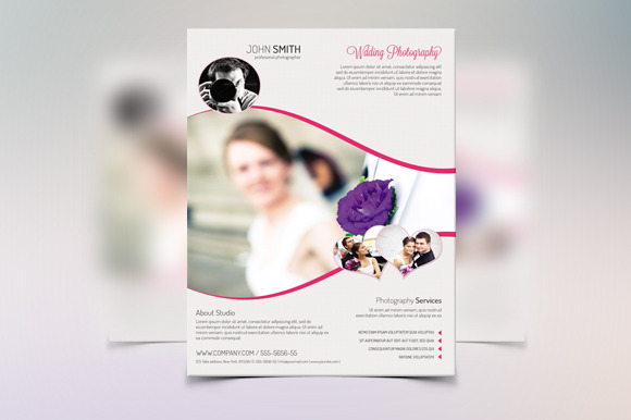 Wedding flyer template v18 flyer templates on creative for Wedding photography brochure template