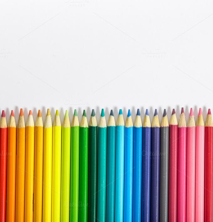 Colorful pencil background ~ Arts & Entertainment Photos ...