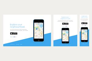 Rainbow - iOS App Website PSD