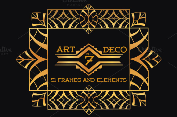 51 art deco frames elements vol7 illustrations on for Deco 5 elements