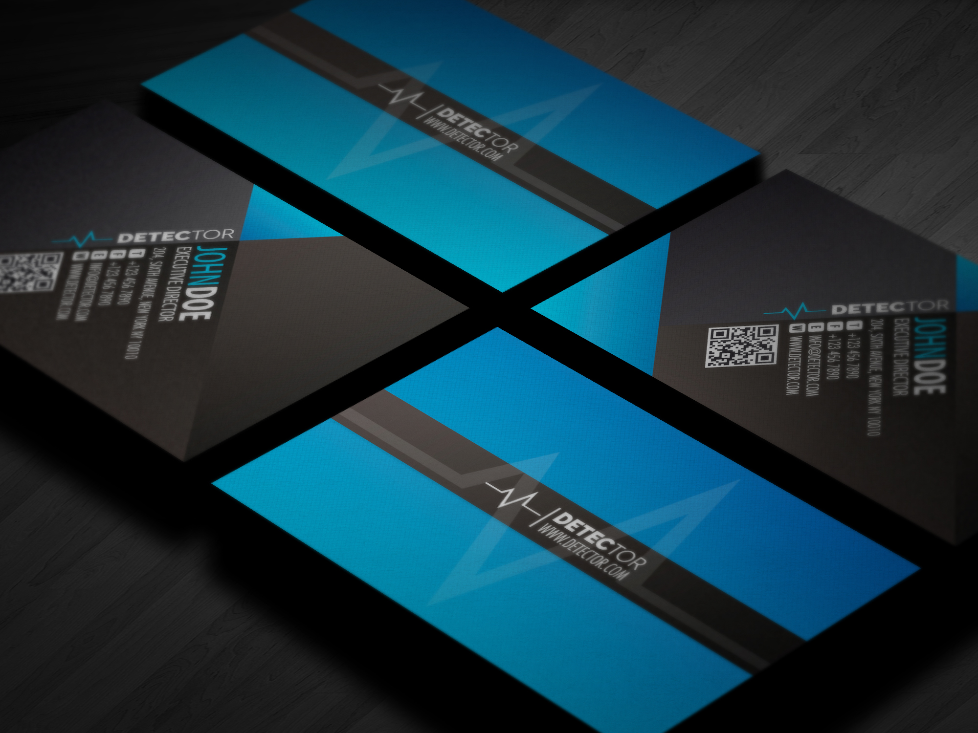 Detector Business card design ~ Business Card Templates on Creative ...: https://creativemarket.com/lemongraphic.sg/54363-Detector-Business...