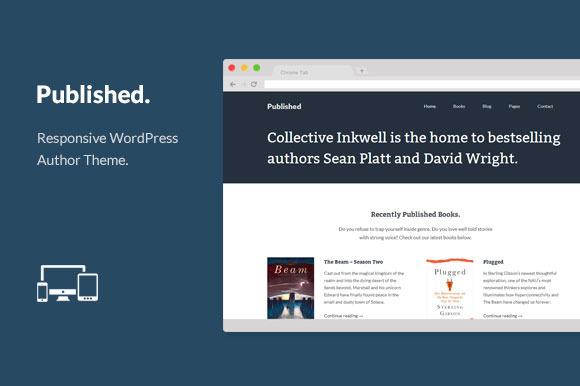Published - WordPress Author Theme - WordPress - 1