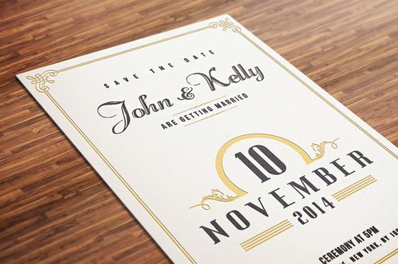 Simple Vintage Wedding Invitations: Vintage Wedding Invitation Postcard