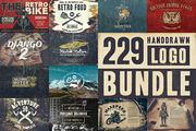 229 Handdrawn Logo Bundle-Graphicriver中文最全的素材分享平台