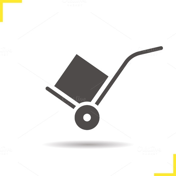 Hand truck icon. Vector - Icons