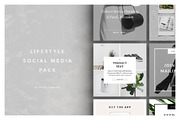 Lifestyle Social Media Pack-Graphicriver中文最全的素材分享平台