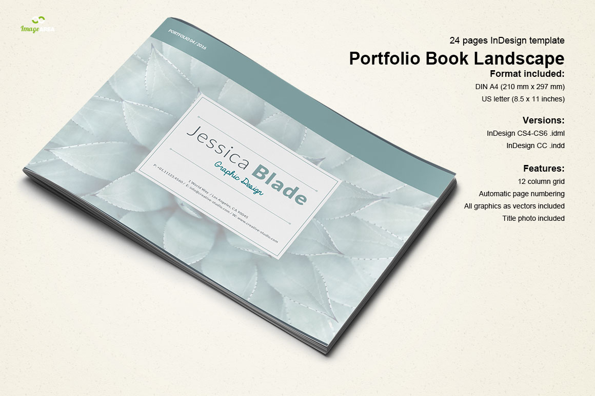 indesign templates for books - horizontal portfolio book brochure templates on creative
