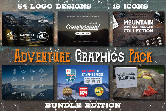 70% OFF Adventure Graphics Pack - Logos